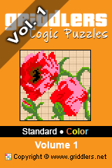iGridd Books - Griddlers, Nonograms, Picross puzzles. Download PDF and print - Standard - Color, Vol. 1