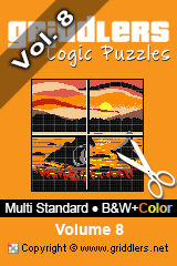 iGridd Books - Griddlers, Nonograms, Picross puzzles. Download PDF and print - Multi Standard - B&W+Color, Vol. 8