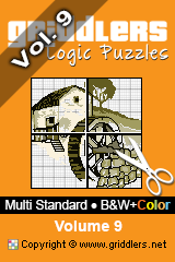 iGridd Books - Griddlers, Nonograms, Picross puzzles. Download PDF and print - Multi Standard - B&W+Color, Vol. 9