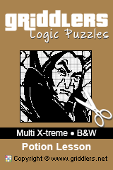iGridd Bücher - Griddler, Nonogramme, Picross Puzzle. Als PDF herunterladen und drucken - Multi X-treme - Black and White, Potion Lesson