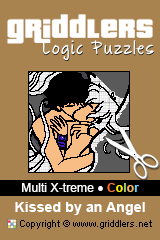 iGridd Books - Griddlers, Nonograms, Picross puzzles. Download PDF and print - Multi X-treme - Color, Kissed by an Angel