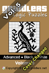 iGridd Bücher - Griddler, Nonogramme, Picross Puzzle. Als PDF herunterladen und drucken - Advanced - Black and White, Vol. 5