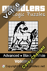 iGridd Bücher - Griddler, Nonogramme, Picross Puzzle. Als PDF herunterladen und drucken - Advanced - Black and White, Vol. 6