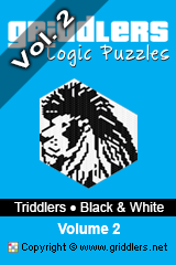 iGridd Books - Griddlers, Nonograms, Picross puzzles. Download PDF and print - Triddlers B&W Vol. 2