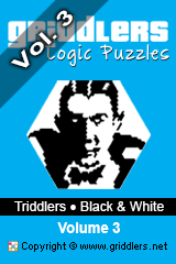 iGridd Books - Griddlers, Nonograms, Picross puzzles. Download PDF and print - Triddlers - Black and White, Vol. 3