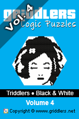 iGridd Books - Griddlers, Nonograms, Picross puzzles. Download PDF and print - Triddlers B&W Vol. 4