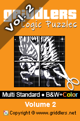 iGridd Books - Griddlers, Nonograms, Picross puzzles. Download PDF and print - Multi Standard - B&W+Color, Vol. 2