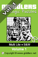 Livros iGridd - Griddlers, Nonograms, Picross puzzles. Faça o download em PDF e imprima - Multi Lite - Black and White, Vol. 1