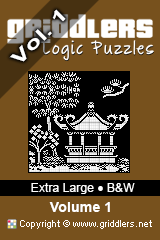Livros iGridd - Griddlers, Nonograms, Picross puzzles. Faça o download em PDF e imprima - Extra Large - Black and White, Vol. 1 (A3)