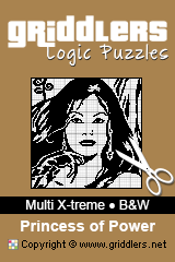 iGridd Books - Griddlers, Nonograms, Picross puzzles. Download PDF and print - Multi X-treme - Black and White, Princess of Power
