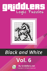 iGridd Books - Griddlers, Nonograms, Picross puzzles. Download PDF and print - Griddlers B&W Vol. 6