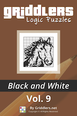 iGridd Books - Griddlers, Nonograms, Picross puzzles. Download PDF and print - Griddlers B&W Vol. 9
