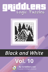 iGridd Books - Griddlers, Nonograms, Picross puzzles. Download PDF and print - Griddlers B&W Vol. 10