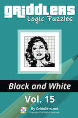 iGridd Books - Griddlers, Nonograms, Picross puzzles. Download PDF and print - Griddlers B&W Vol. 15
