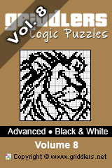 iGridd Bücher - Griddler, Nonogramme, Picross Puzzle. Als PDF herunterladen und drucken - Advanced - Black and White, Vol. 8