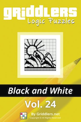 iGridd Books - Griddlers, Nonograms, Picross puzzles. Download PDF and print - Griddlers B&W Vol. 24