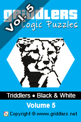 iGridd Books - Griddlers, Nonograms, Picross puzzles. Download PDF and print - Triddlers - Black and White, Vol. 5