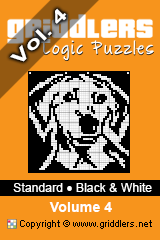 iGridd knjige - Griddlers, Nonograms, Picross uganke. Naložite PDF in natisnite - Standard - Black and White, Vol. 4