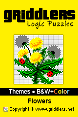 iGridd Books - Griddlers, Nonograms, Picross puzzles. Download PDF and print - Theme - Flowers, B&W+Color