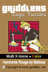 iGridd Books - Griddlers, Nonograms, Picross puzzles. Download PDF and print - Multi X-treme - Color, Harmonie Rouge by Matisse