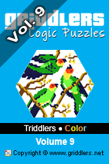 iGridd Books - Griddlers, Nonograms, Picross puzzles. Download PDF and print - Triddlers Color Vol. 9