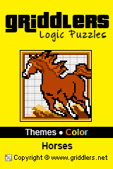 iGridd Books - Griddlers, Nonograms, Picross puzzles. Download PDF and print - Theme - Horses, Color