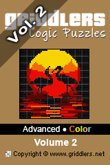 iGridd Books - Griddlers, Nonograms, Picross puzzles. Download PDF and print - Advanced - Color, Vol. 2
