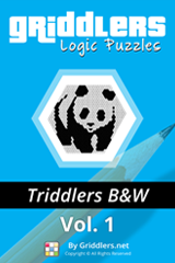 iGridd Books - Griddlers, Nonograms, Picross puzzles. Download PDF and print - Triddlers B&W Vol. 1 (108 Pages)