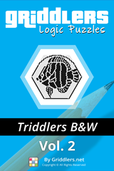 iGridd Books - Griddlers, Nonograms, Picross puzzles. Download PDF and print - Triddlers B&W Vol. 2 (108 Pages)