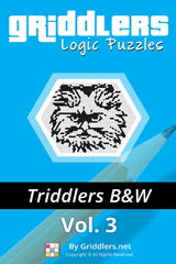 iGridd Books - Griddlers, Nonograms, Picross puzzles. Download PDF and print - Triddlers B&W Vol. 3 (108 Pages)