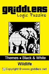 Livros iGridd - Griddlers, Nonograms, Picross puzzles. Faça o download em PDF e imprima - Theme - Wildlife, Black and White