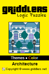 iGridd Books - Griddlers, Nonograms, Picross puzzles. Download PDF and print - Theme - Architecture, Color