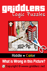 Libros iGridd - Griddlers, Nonogramas, Puzles picross . Descargar PDF e Imprimir - Riddle - What is Wrong in this Picture? (Color)