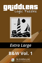 iGridd Books - Griddlers, Nonograms, Picross puzzles. Download PDF and print - Griddlers Extra Large B&W Vol. 1 (108 Pages)