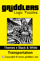 iGridd Books - Griddlers, Nonograms, Picross puzzles. Download PDF and print - Theme - Transportation, Black and White