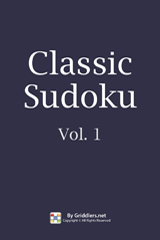 iGridd Books - Griddlers, Nonograms, Picross puzzles. Download PDF and print - Classic Sudoku, Vol. 1