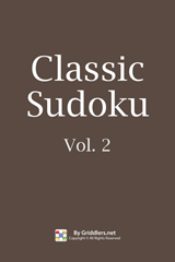 iGridd Books - Griddlers, Nonograms, Picross puzzles. Download PDF and print - Classic Sudoku, Vol. 2
