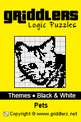 iGridd Books - Griddlers, Nonograms, Picross puzzles. Download PDF and print - Theme - Pets, Black and White
