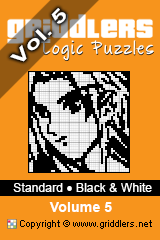 iGridd Books - Griddlers, Nonograms, Picross puzzles. Download PDF and print - Standard - Black and White, Vol. 5