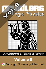 iGridd Books - Griddlers, Nonograms, Picross puzzles. Download PDF and print - Advanced - Black and White, Vol. 9