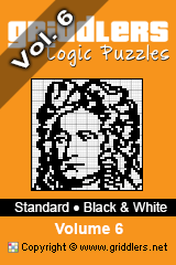 iGridd knjige - Griddlers, Nonograms, Picross uganke. Naložite PDF in natisnite - Standard - Black and White, Vol. 6