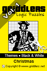 iGridd Books - Griddlers, Nonograms, Picross puzzles. Download PDF and print - Theme - Christmas, Black and White, Vol. 1