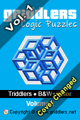 iGridd Books - Griddlers, Nonograms, Picross puzzles. Download PDF and print - Triddlers - B&W+Color, Vol. 1