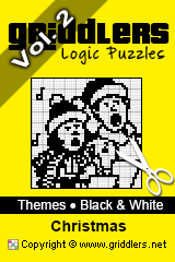 Livres iGridd - Griddlers, Nonograms, Picross puzzles. Téléchargez le PDF et imprimez - Theme - Christmas, Black and White, Vol. 2