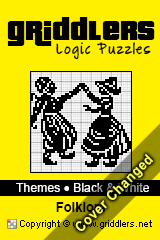 Livros iGridd - Griddlers, Nonograms, Picross puzzles. Faça o download em PDF e imprima - Theme - Folklore, Black and White