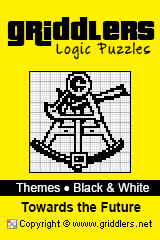 iGridd Books - Griddlers, Nonograms, Picross puzzles. Download PDF and print - Theme - Towards the Future, Black and White