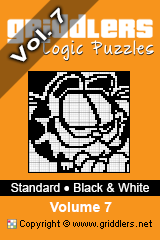 iGridd Books - Griddlers, Nonograms, Picross puzzles. Download PDF and print - Standard - Black and White, Vol. 7