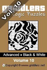 iGridd Bücher - Griddler, Nonogramme, Picross Puzzle. Als PDF herunterladen und drucken - Advanced - Black and White, Vol. 10