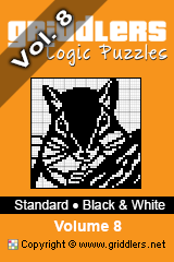 iGridd knjige - Griddlers, Nonograms, Picross uganke. Naložite PDF in natisnite - Standard - Black and White, Vol. 8