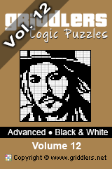 iGridd Books - Griddlers, Nonograms, Picross puzzles. Download PDF and print - Advanced - Black and White, Vol. 12